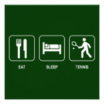 Coma la invitación del tenis del sueño