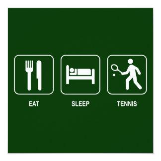Coma la invitación del tenis del sueño invitación 13,3 cm x 13,3cm