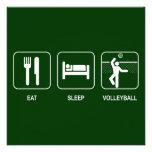 Coma la invitación del voleibol del sueño
