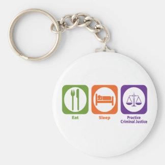 Coma la justicia penal de la práctica del sueño llavero personalizado