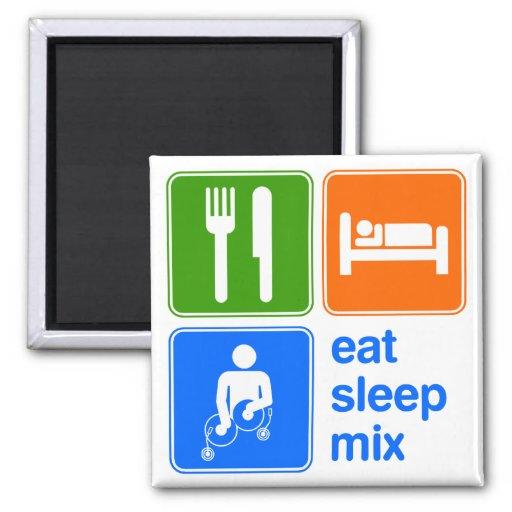 Coma la mezcla del sueño imán cuadrado