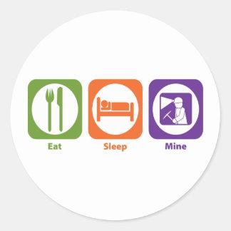 Coma la mina del sueño pegatina redonda
