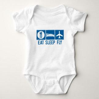 Coma la mosca del sueño body para bebé