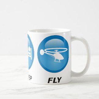Coma la mosca del sueño taza de café