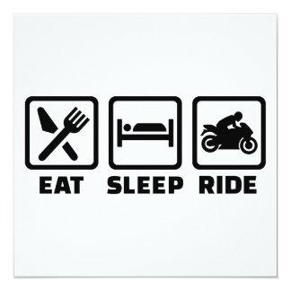 """Coma la motocicleta del paseo del sueño invitación 5.25"""" x 5.25"""""""