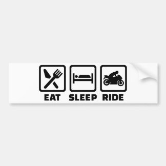 Coma la motocicleta del paseo del sueño pegatina para auto