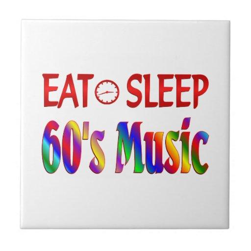 Coma la música de los años 60 del sueño azulejo cuadrado pequeño