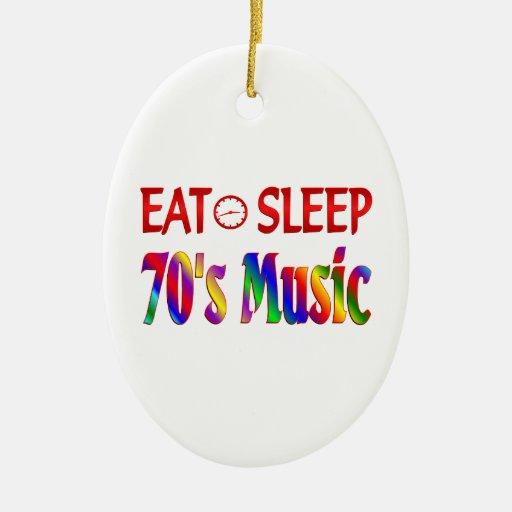 Coma la música de los años 70 del sueño ornamento de navidad