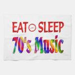 Coma la música de los años 70 del sueño toalla de cocina