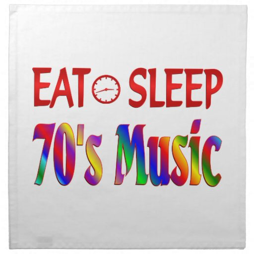 Coma la música de los años 70 del sueño servilleta imprimida