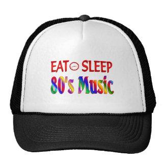 Coma la música de los años 80 del sueño gorras