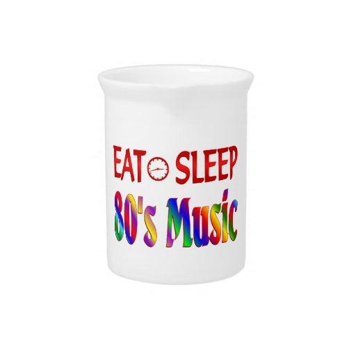 Coma la música de los años 80 del sueño jarrones