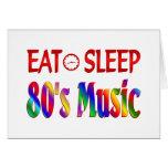 Coma la música de los años 80 del sueño tarjeton