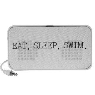 Coma la nadada del sueño altavoces de viaje