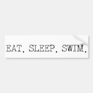 Coma la nadada del sueño etiqueta de parachoque