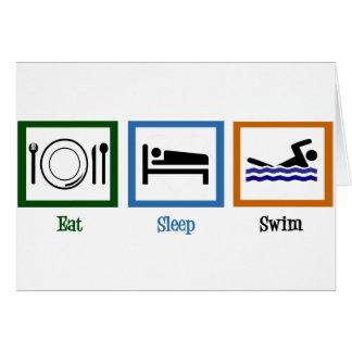 Coma la nadada del sueño tarjeta de felicitación