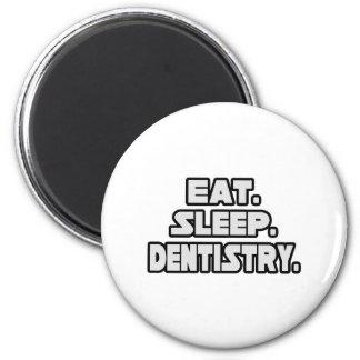 Coma la odontología del sueño imán para frigorifico