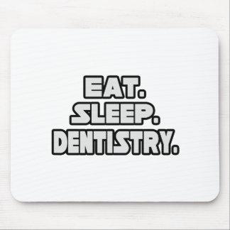 Coma la odontología del sueño tapete de raton