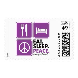 Coma la paz del sueño - púrpura franqueo