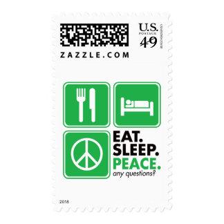 Coma la paz del sueño - verde franqueo