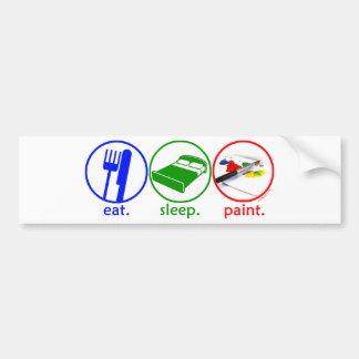 Coma la pintura del sueño etiqueta de parachoque