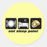 Coma la pintura del sueño pegatinas