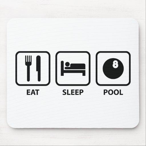 Coma la piscina del sueño alfombrilla de raton