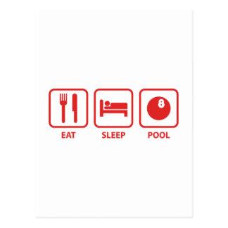 Coma la piscina del sueño tarjeta postal