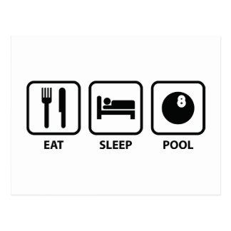 Coma la piscina del sueño tarjetas postales