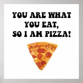 Coma la pizza póster