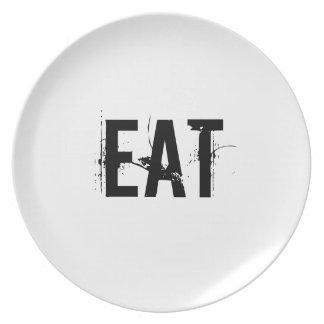 Coma la placa platos para fiestas