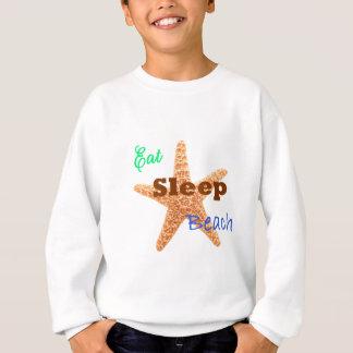 Coma la playa del sueño - camiseta de los niños