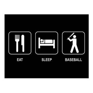 Coma la postal del béisbol del sueño