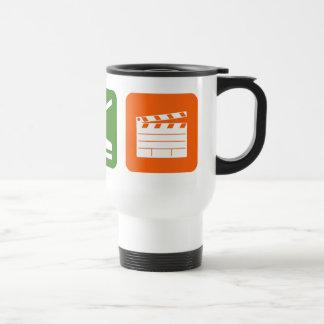 Coma la producción de la película del sueño taza de café