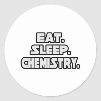 Coma la química del sueño pegatina redonda