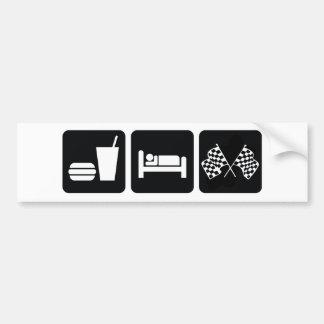 Coma la raza del sueño pegatina para auto