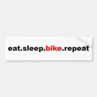 coma la repetición de la bici del sueño etiqueta de parachoque