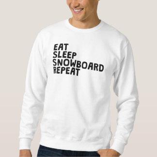 Coma la repetición de la snowboard del sueño pulover sudadera