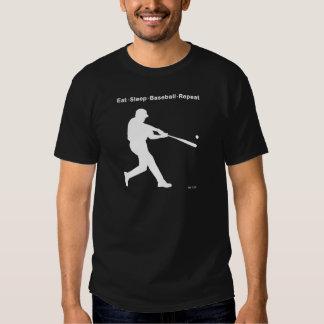 Coma la repetición del béisbol del sueño camisas