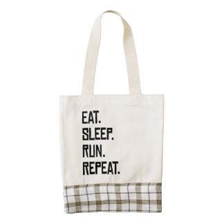 Coma la repetición del funcionamiento del sueño bolsa tote zazzle HEART