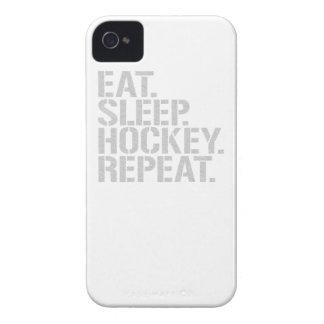 Coma la repetición del hockey del sueño iPhone 4 Case-Mate carcasa