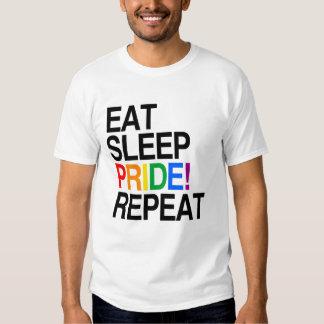 Coma la repetición del orgullo del sueño remeras