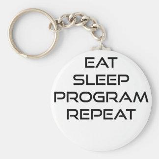 Coma la repetición del programa del sueño llavero redondo tipo pin