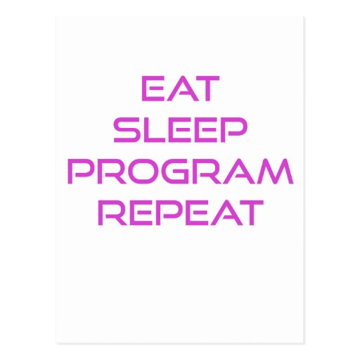 Coma la repetición del programa del sueño tarjetas postales