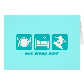 Coma la resaca del sueño tarjeta de felicitación