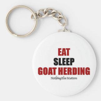 Coma la reunión de la cabra del sueño llavero personalizado