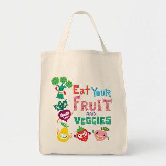 Coma la su bolsa de asas de la fruta y de los Vegg