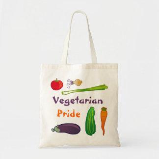 Coma la su bolsa de asas vegetariana del presupues