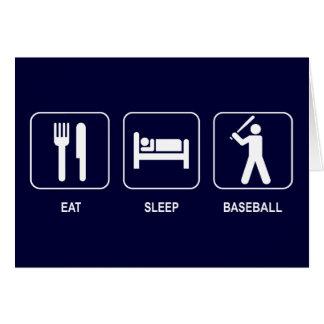 Coma la tarjeta de béisbol del sueño