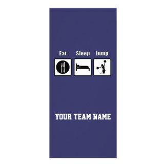 Coma la tarjeta del estante del equipo de la anima diseño de tarjeta publicitaria